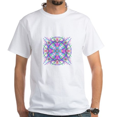 Kaleidoscope 005 White T-Shirt