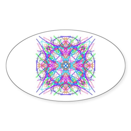Kaleidoscope 005 Oval Sticker