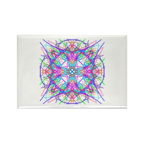 Kaleidoscope 005 Rectangle Magnet (10 pack)