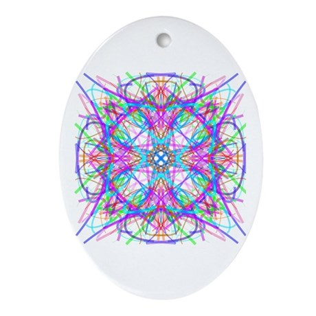 Kaleidoscope 005 Oval Ornament