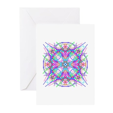 Kaleidoscope 005 Greeting Cards (Pk of 10)