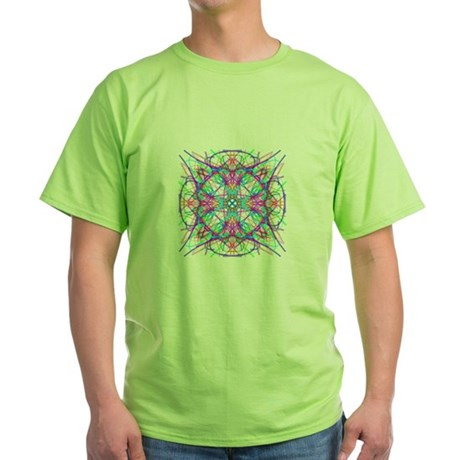 Kaleidoscope 005 Green T-Shirt
