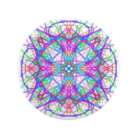 "Kaleidoscope 005 3.5"" Button (100 pack)"