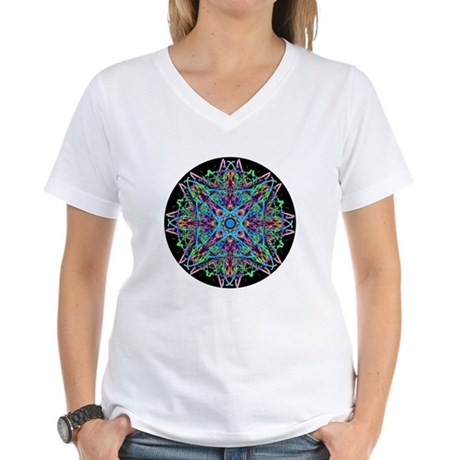 Kaleidoscope 005e Women's V-Neck T-Shirt