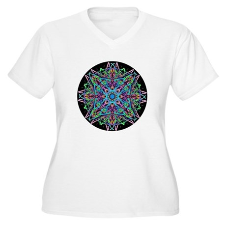 Kaleidoscope 005e Women's Plus Size V-Neck T-Shirt