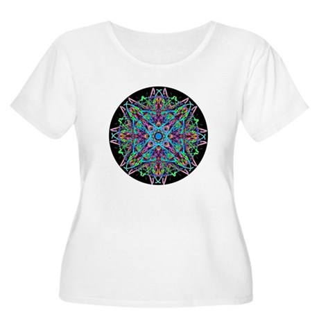 Kaleidoscope 005e Women's Plus Size Scoop Neck T-S