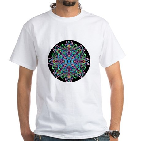 Kaleidoscope 005e White T-Shirt