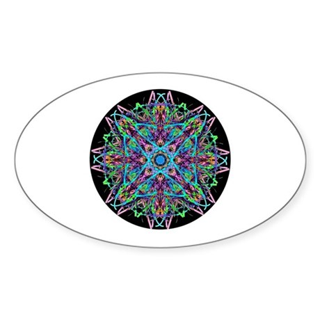 Kaleidoscope 005e Oval Sticker
