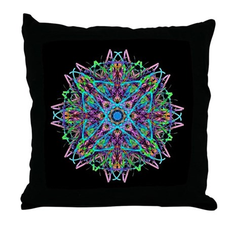Kaleidoscope 005e Throw Pillow
