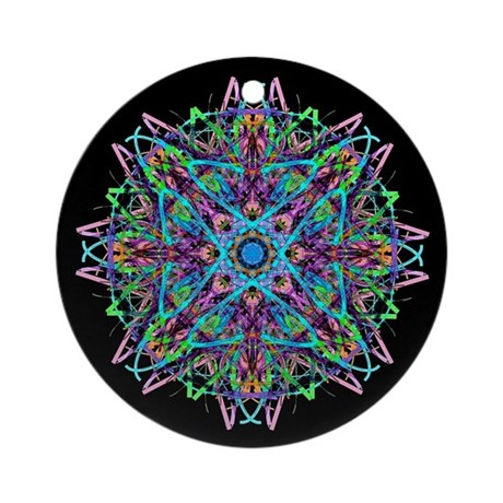 Kaleidoscope 005e Ornament (Round)