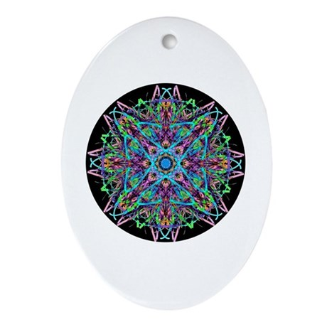 Kaleidoscope 005e Oval Ornament