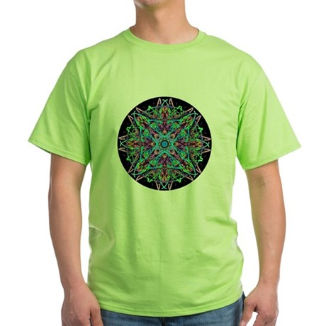 Kaleidoscope 005e Green T-Shirt