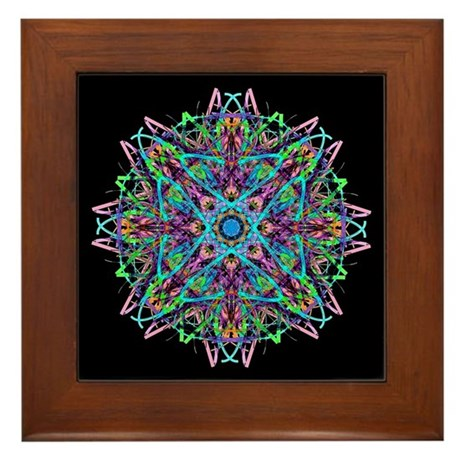 Kaleidoscope 005e Framed Tile