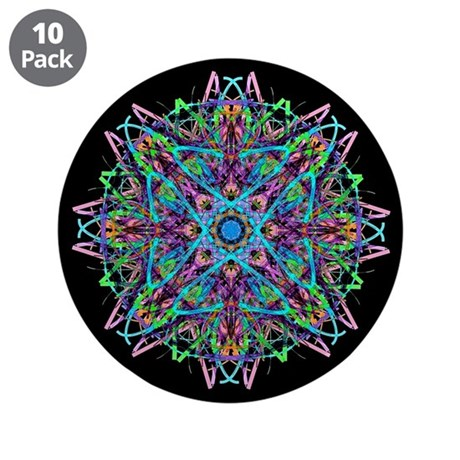 "Kaleidoscope 005e 3.5"" Button (10 pack)"