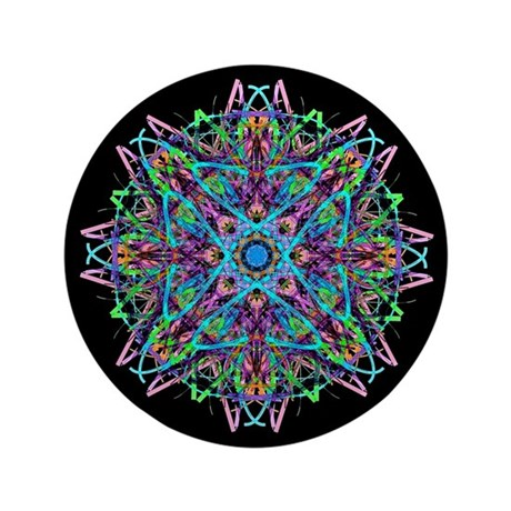 "Kaleidoscope 005e 3.5"" Button (100 pack)"