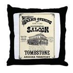 Occidental Saloon Throw Pillow