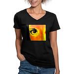 Dynomoose Women's V-Neck Dark T-Shirt