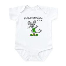 Funny Rat peace rat Infant Bodysuit