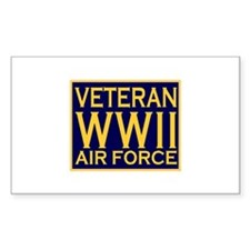 AIRFORCE VETERAN WW II Rectangle Decal