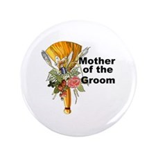 "Jumping the Broom Mother of the Groom 3.5"" Button"