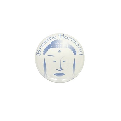 Buddha Head 3 Mini Button