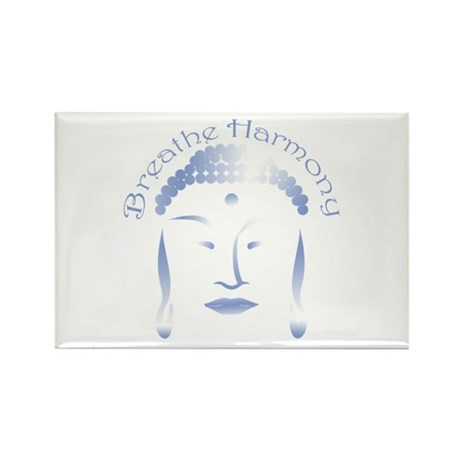 Buddha Head 3 Rectangle Magnet
