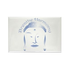 Buddha Head 3 Rectangle Magnet (100 pack)
