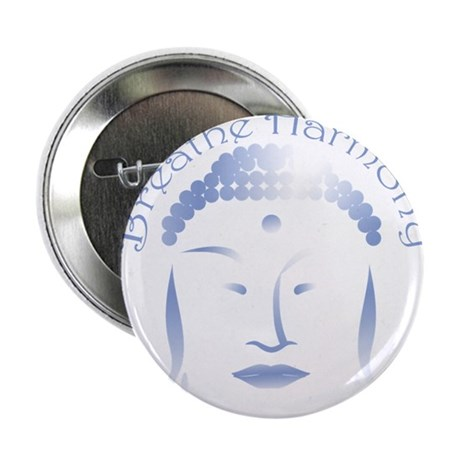Buddha Head 3 2.25&quot; Button (100 pack)