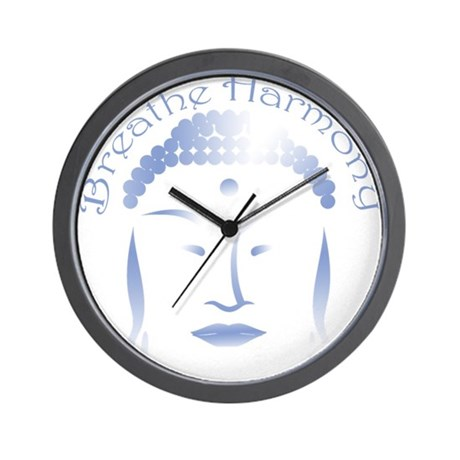 Buddha Head 3 Wall Clock