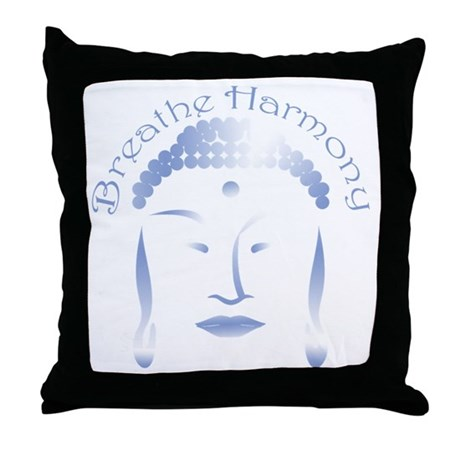Buddha Head 3 Throw Pillow
