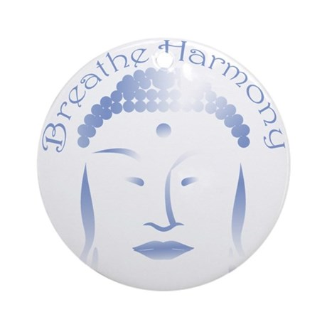 Buddha Head 3 Ornament (Round)
