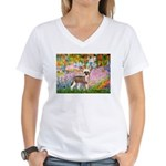 Garden / Chinese Crested Women's V-Neck T-Shirt