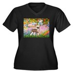 Garden / Chinese Crested Women's Plus Size V-Neck