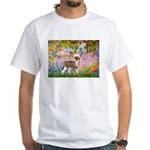 Garden / Chinese Crested White T-Shirt
