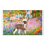 Garden / Chinese Crested Sticker (Rectangle)