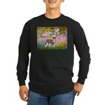 Garden / Chinese Crested Long Sleeve Dark T-Shirt