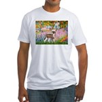 Garden / Chinese Crested Fitted T-Shirt