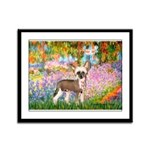 Garden / Chinese Crested Framed Panel Print