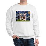 Starry Night / 2Chinese Crest Sweatshirt