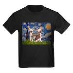 Starry Night / 2Chinese Crest Kids Dark T-Shirt