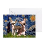 Starry Night / 2Chinese Crest Greeting Card