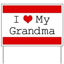 I Heart My Grandma Yard Sign