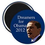 Dreamers for Obama 2012 Fridge Magnet