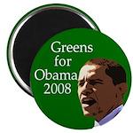 Greens for Obama Fridge Magnet