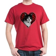Tuxedo Cat Heart T-Shirt