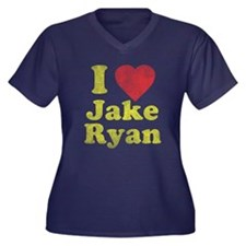 I Love Jake Ryan Women's Plus Size V-Neck Dark T-S