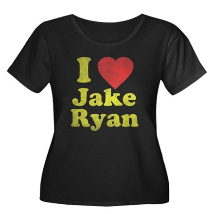 I Love Jake Ryan Womens Plus Size Scoop Neck Dark