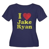 I Love Jake Ryan Women's Plus Size Scoop Neck Dark