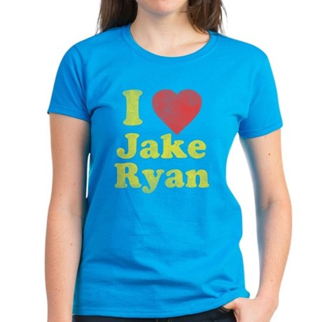 I Love Jake Ryan Womens T-Shirt