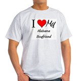 I Love My Alabama Boyfriend T-Shirt